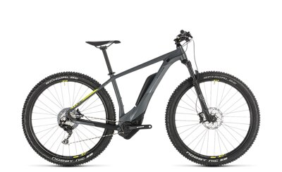 CUBE REACTION HYBRID RACE 500 GREY LIME 2019