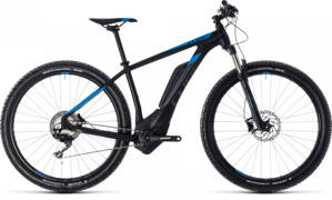 CUBE REACTION HYBRID Race 500 2018 BLACK BLUE
